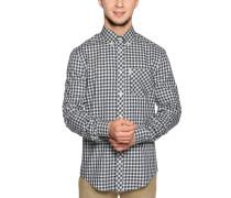 Langarm Hemd Regular Fit offwhite/schwarz/blau
