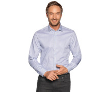 Business Hemd Custom Fit grau/weiß gestreift