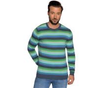 Pullover grün/blau/grau gestreift