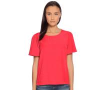 Kurzarm Blusenshirt rot
