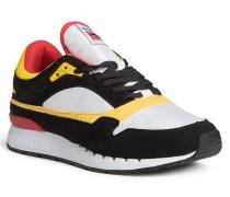 Sneaker schwarz/weiß/gelb/rot