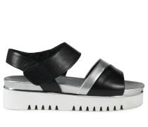 Sandalen schwarz/silber