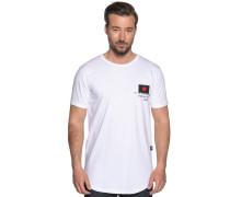 Kurzarm T-Shirt weiß