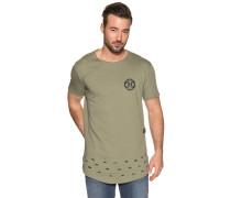 Kurzarm T-Shirt mit Rückenprint grün