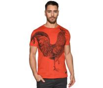 Kurzarm T-Shirt rotorange