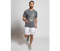 T-Shirt grau meliert