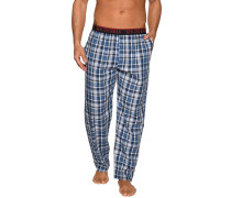 Pyjamahose, Blau, Herren