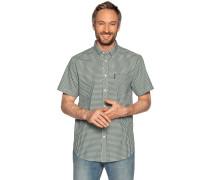 Kurzarmhemd Regular Fit grün/weiß