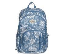 Rucksack blau/weiß