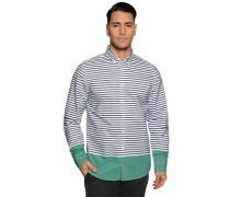 Langarm Hemd Regular Fit navy/weiß/grün
