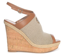 Wedges braun/gold