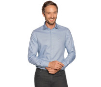 Business Hemd Custom Fit graublau