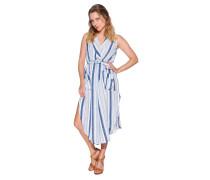 Kleid beige/blau