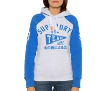Sweatshirt hellgrau/blau