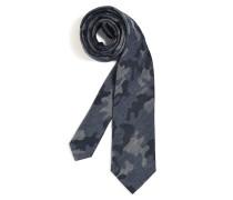 Krawatte navy/grau meliert