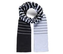Schal mit Kaschmiranteil schwarz/graublau