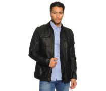 Jacke aus Leinen schwarz