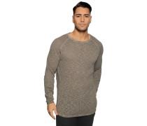 Pullover mit Leinen braun