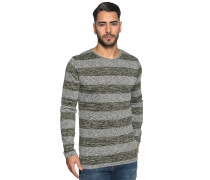 Pullover, grau/khaki