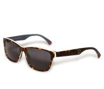 Sonnenbrille braun/weiß