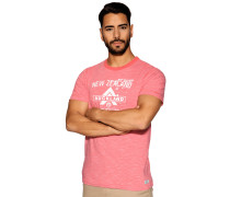 Kurzarm T-Shirt koralle meliert