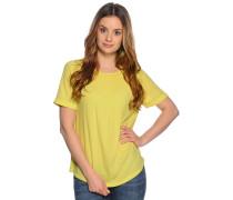 Kurzarm Blusenshirt gelb