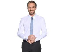 Hemd Slim Fit + Krawatte weiß/hellblau