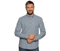 Langarm Hemd Regular Fit grün/blau/weiß