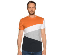 Kurzarm T-Shirt navy/rost