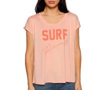 Kurzarm T-Shirt koralle