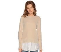 Pullover beige/weiß