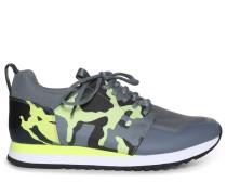 Sneaker grau/gelb