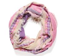 Loopschal, pink/mehrfarbig