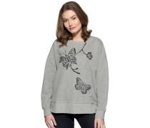 Sweatshirt grau/silber