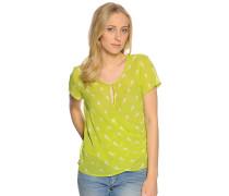 Kurzarm Blusenshirt grün