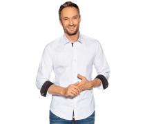 Langarm Hemd weiß/schwarz
