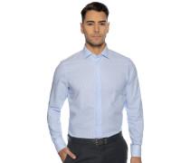 Business Hemd Regular Fit hellblau/weiß