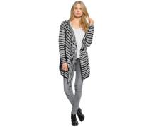 Strickjacke grau/schwarz