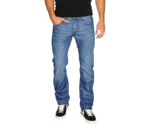 Jeans Attacc Low Straight blau