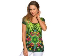 Kurzarm T-Shirt grün/bunt