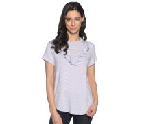Kurzarm T-Shirt flieder/weiß