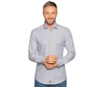 Business Hemd Slim Fit grau meliert