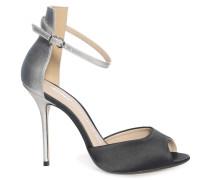 Sandaletten schwarz/silber