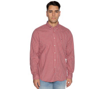 Business Hemd Regular Fit rot/grau