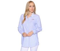 Langarm Bluse blau/weiß gestreift