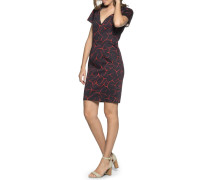 Business Kleid navy/rot