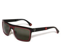 Sonnenbrille rot/schwarz