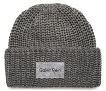 Mütze grau meliert