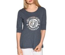 Kurzarm T-Shirt blau meliert
