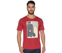 Kurzarm T-Shirt rot meliert